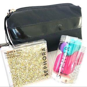 Sephora Bundle- ALL NWT - bag, mirror, sponges